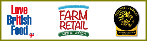 Love British Food - Farm Retail Association - Golden Turkey, quality assurance guarantee.